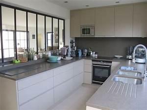 cuisine avec verriere interieure 6 exemples reussis With salle À manger contemporaine avec cuisine aménagée en u