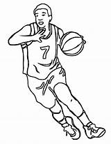 Basketball Coloring Pages Nba Sports Printable Team Boys Posters Ball Teams Drawing Player Players Sheets Worksheets Hoop Court Goal Colouring sketch template