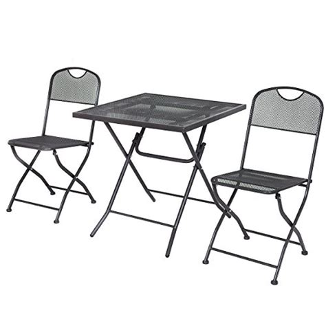 giantex 3 pcs outdoor patio bistro furniture set steel