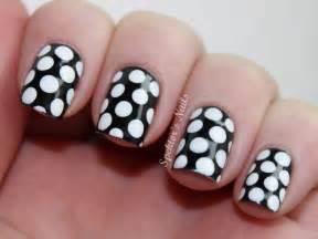 Polka dot nail designs hair styles