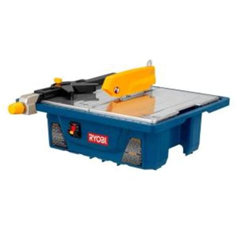 home depot canada tile cutter ryobi 3 4 hp 7 in tile saw ws7211 the home depot