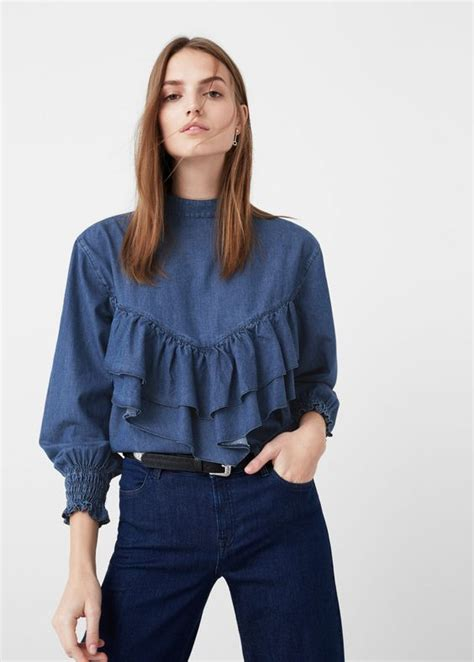 blouse aini dreamy chic ruffle blouse for 2018 capsule wardrobe