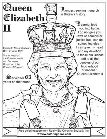 coloring books queen elizabeth ii   coloring page