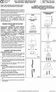 Commercial Electric Cer4741wh Installation Guide