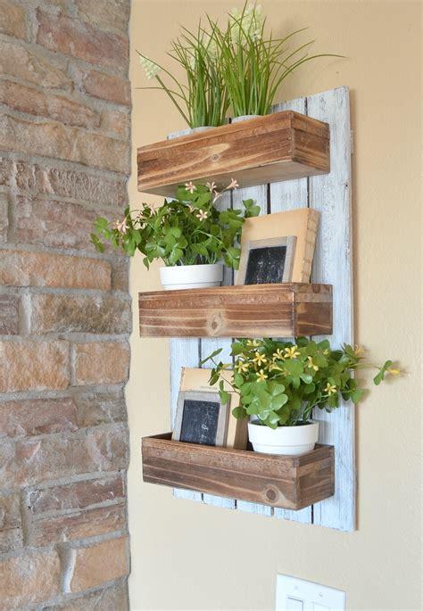 hanging wall garden diy wooden wall planter vintage nest