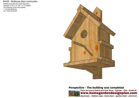 build a house free home garden plans bh100 bird house plans construction