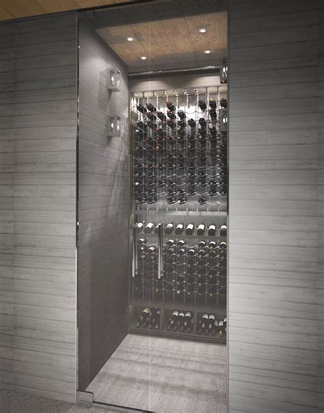 mirrored kitchen backsplash small space impact this custom wine cellar by papro 4160