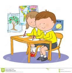 Children in Classroom Clip Art