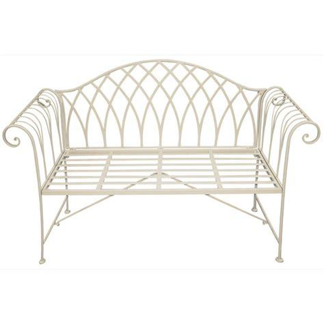 metal garden bench scrolled metal garden bench the garden factory