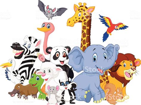 Cartoon Wild Animals Background Stock Vector Art & More