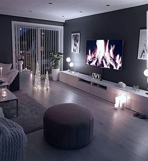 salon gris en  decoration salon cocooning