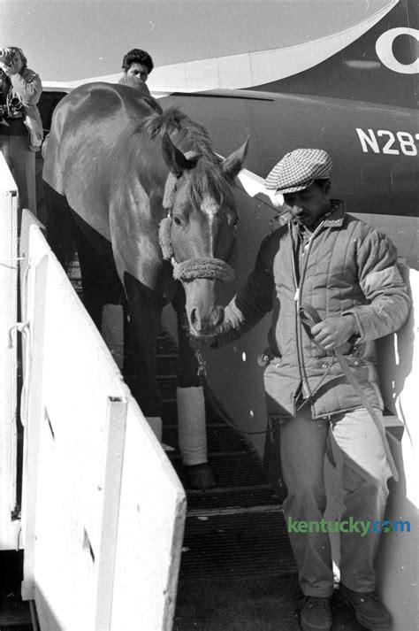 secretariat arrives  lexington  kentucky photo