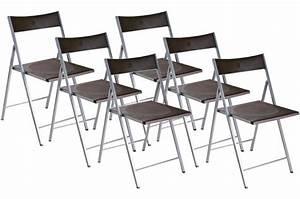 Lot De 6 Chaises Pas Cher : lot de 6 chaises pliantes choco bilbao chaise pliante pas cher ~ Teatrodelosmanantiales.com Idées de Décoration