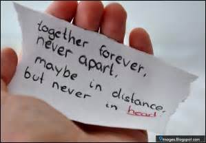 Together Forever Never Apart Quote
