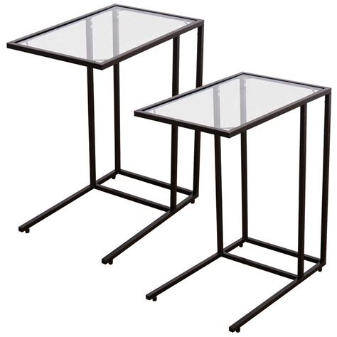 Sofa Tray Tables by 2pcs Coffee Tray Side Sofa End Table Ottoman Stand
