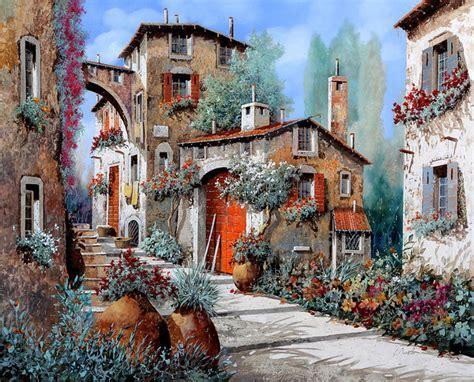 Italian Village Scene Paintings   Fine Art America