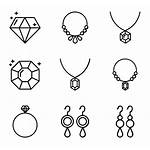 Jewelry Icon Icons Vector Ring Line Library