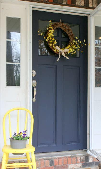 front door makeover  general finishes milk paint