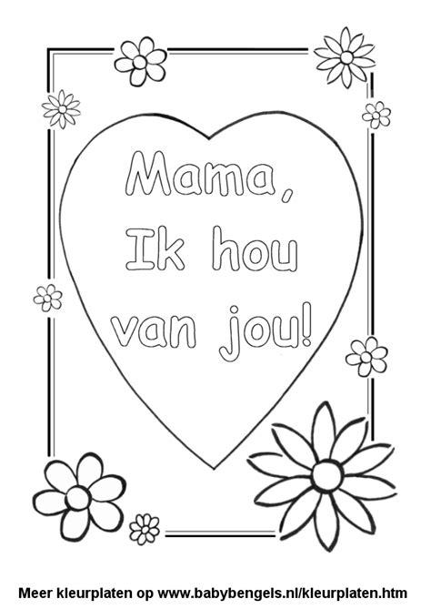 Ik Hou Jou Kleurplaat by Kleurplaten Voor Peuters En Kleuters En Kinderen