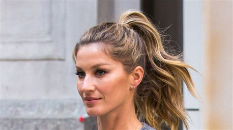 layered haircuts gisele b 252 ndchen puts a bombshell twist on the ponytail vogue 9887