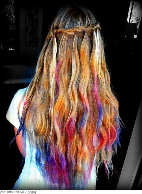 Tye Dye Hair Tie Dye Hair Dip Dye Hair Long Hair Styles