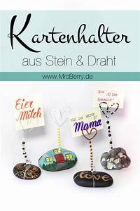 Basteln Mit Steinen : diy kartenhalter aus steinen draht basteln ~ Watch28wear.com Haus und Dekorationen