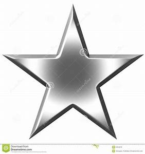 3D Silver Star stock illustration. Illustration of bevel ...  Star