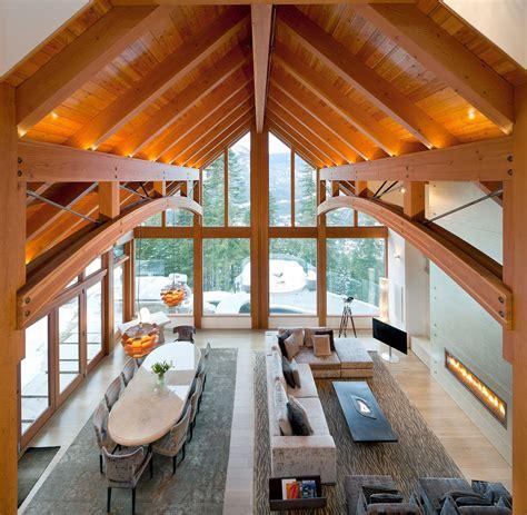 luxury timber frame mountain retreat  whistler idesignarch interior design architecture