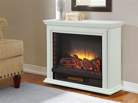 Sheridan Infrared Rolling Electric Fireplace White