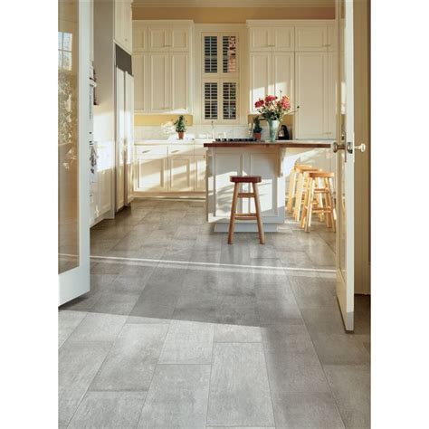 porcelain kitchen floors shop style selections cityside gray glazed porcelain floor 1588