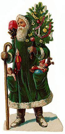 victorian santa claus   victorian santa victoriana
