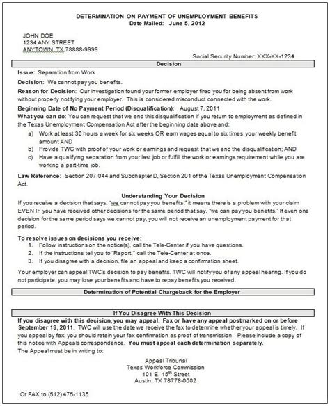 federal cover letter social security administration exle of unemployment appeal letter search results