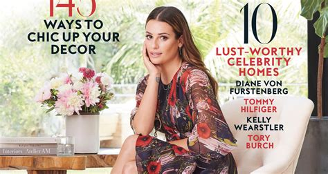 Instyle's Home Y Design : Lea Michele Invites Fans Into Her House For Instyle's Home