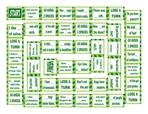 Quantifiers Board Game-esl Fun Games-remember To Have Fun