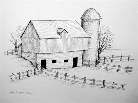 How To Draw A Barn by Pen The Aspiring Illustrator Page 4