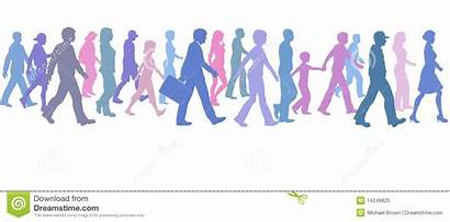 Walking Clipart Walk Together Direction Leader Follow