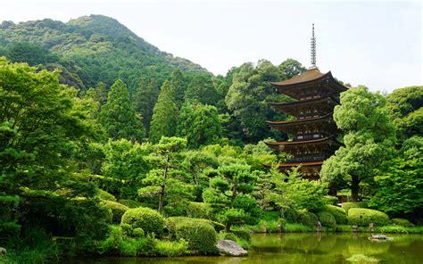 Hd Wallpaper For Macbook Pro Hd Background Rurikoji Temple Japan Yamaguchi Pond Trees Wallpaper Wallpapersbyte