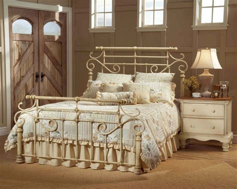 bedrooms with wrought iron bed designs