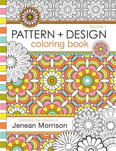 pattern and design coloring book jenean morrison adult