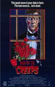 NIGHT OF THE CREEPS Movie POSTER Horror Slasher 80's VHS ...