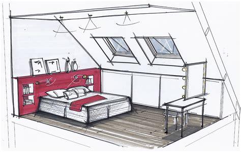 croquis de chambre chambre sketch chambres croquis et dessin