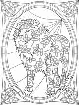 Coloring Pages Welcome Adult Dover Wildlife Refugee Lion Designs Cat Template Publications Spark Books Doverpublications sketch template