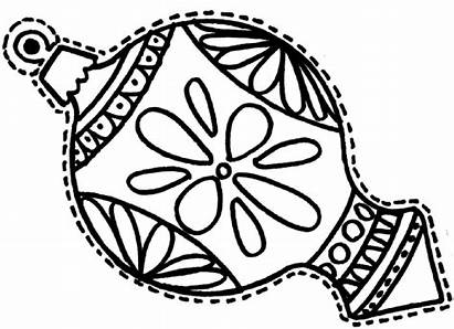Coloring Christmas Pages Ornament Decorations Ornaments Printable