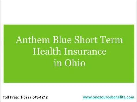 The mission of anthem is to improve the health of the people they serve. Anthem Blue Short Term Health Insurance in Ohio - YouTube