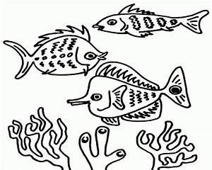 Coral Reef Coloring Page Coloring Home