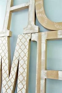 home art tutorial extra large diy letter decor With extra large cardboard letters
