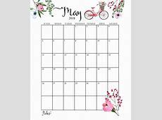 Calendar May 2019 Printable Cute 2019 Monthly Calendar