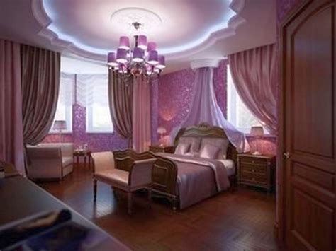 Luxurious Bedroom Designs With Purple Color