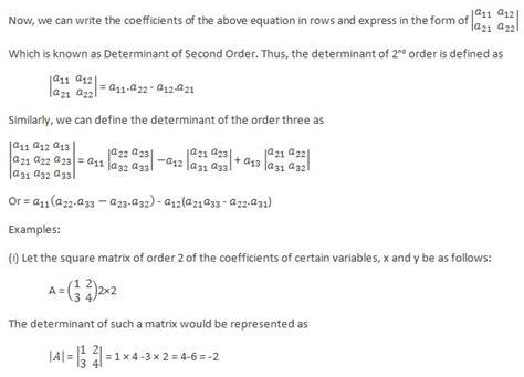Determinant Matrix Homework Help Math