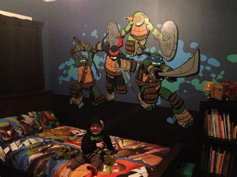 teenage mutant ninja turtle bedroom mural work in